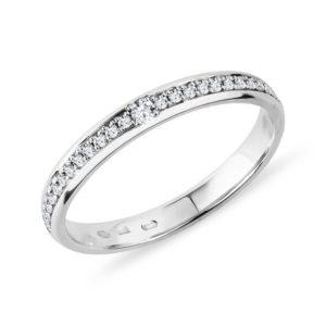 Dámský prsten z bílého zlata s diamanty KLENOTA